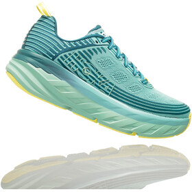 Hoka One One Bondi 6 Running Shoes Women Dragonfly/Aqua Haze